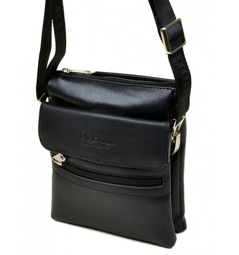 Стильная мужская сумка-планшет из искусственной кожи dr.Bond 8137 black черный
