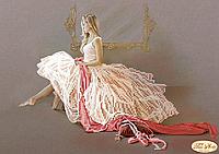 """Схема для вышивки бисером частичная зашивка """"Балерина"""""""