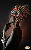 "Схема для вышивки картин бисером на атласе ""Африканка"""