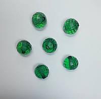 Бусина шар граненый зеленые 20 мм