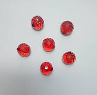 Бусина шар граненый красные 20 мм