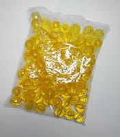 Бусина шар граненый желтые 21 мм