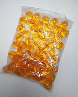 Бусина шар граненый желтые 24 мм