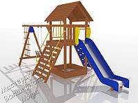"""Детский комплекс для Дачи """"Счастливое детство""""  - ДК 005.066"""