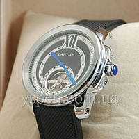 Мужские Часы Cartier Silver/Black-white