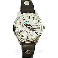 Женские оригинальные наручные часы AndyWatch. Лесная птица