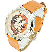 Оригинальные женские наручные часы. Унисекс две лисицы