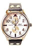 Мужские кварцевые наручные часы IWC Schaffhausen на ремешке из полиэстера