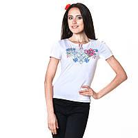 Женская вышитая футболка. Пион