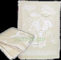 Детский вязанный хлопковый плед с начосом, 100% хлопок, 100х140 см, ТМ Ромашка, Украина