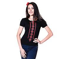 Женская вышитая футболка. Берегиня красная.