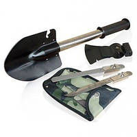 Универсальная туристическая лопата саперка 5 в 1 с топором