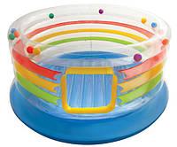 Надувной центр-батут INTEX 46264 игровой прозрачный круглый 182*86 см JUMP-O-LENE