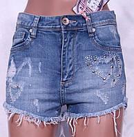 Модные женские джинсовые шорты с декором