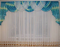 Ламбрекен из жатой ткани для зала спальни детской недорого