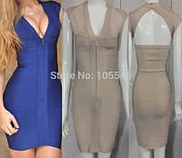 Бандажное платье Herve Leger с открытой спиной