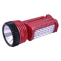 Переносной фонарь/светильник Yajia 2828, для дома/дачи и турпоходов, 1+18 led, несъёмный аккумулятор 1200 мА/ч