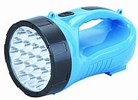 Переносной led-фонарь пластиковый YJ-2819А, на 19 светодиодов, эргономичная рукоять, со скрытой сетевой вилкой