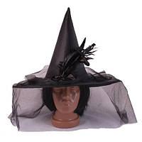 Шляпа Ведьмы с вуалью, черная