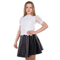 Нарядная черная юбка для девочки