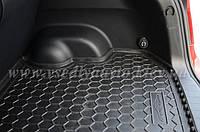 Коврик в багажник FORD Focus с 2011г. седан (с докаткой) (AVTO-GUMM) пластик+резина