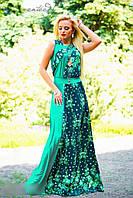 Красивое женское платье 0938 зеленый
