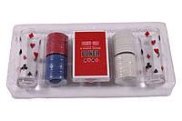 Настольная игра в пьяный покер, 100 фишек, 2 рюмки