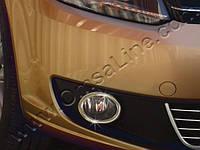 Накладка на противотуманки Volkswagen CADDY (2010-...) (Фольксваген кадди), нерж.