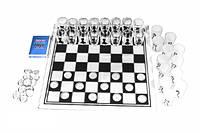 Настольная игра из 3 игр алкогольных: шахматы, шашки, карты