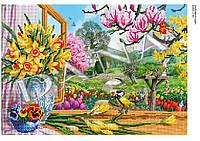 """Схема для частичной вышивки бисером """"Любимый сад"""""""
