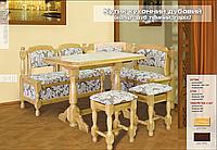 Кухонный угол дубовый вместе со столом и табуретками