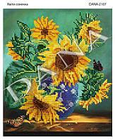 """Схема-заготовка для вышивания бисером """"Цветы солнышка"""""""