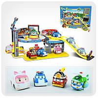 Парковка-гараж «Робокар Поли» - Пожарная станция Роя (паркинг + 2 машинки - Поли и Эмбер)