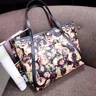 Стильная сумка с цветами. Доступная цена. Хорошее качество. Интернет магазин. Купить сумку.  Код: КСМ23