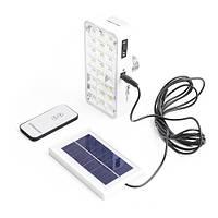 Фонарь лампа YJ-9817, 24 LED, Фонарь, лампочка, светильник с солнечной батареей, пульт Д/У