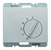 Регулятор температуры помещения 250В Berker K.5 Стальной Лак (20267104)