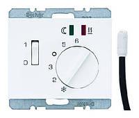 Регулятор температуры для пола с датчиком 250В Berker K.1 Полярная Белизна (20347109)