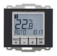 Регулятор температуры с часовым механизмом 250В Berker K.1 Антрацит (20447106)