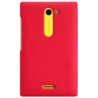 Чехол Nillkin для Nokia Asha 502 красный (+пленка)
