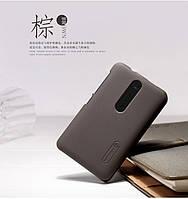 Чехол Nillkin для Nokia Asha 501 коричневый (+пленка)