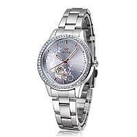 Женские  часы из нержавеющей стали горный хрусталь наручные кварцевые relógio feminino reloj mujer.