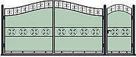 Ворота кованные, модель ВКГ-09