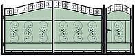 Ворота кованные, модель ВКГ-10