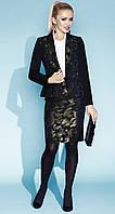 Стильный женский жакет черного цвета в стиле милитари Gabriela Zaps, коллекция осень-зима 2015