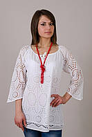 Легкая летняя ажурная женская блуза