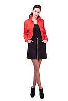 Женская модная короткая черная юбка с молнией