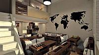 Меловая карта мира. Грифельная карта мира. Интерьерные доски для мела и маркера