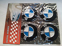 Наклейки на заглушки литых дисков (колпачки) с логотипом bmw (бмв)