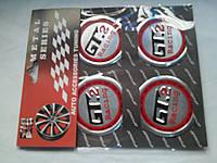 Наклейки на заглушки литых дисков (колпачки) с логотипом GT 2 Racing (джи-ти ту рейсинг)