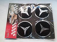 Наклейки на заглушки литых дисков (колпачки) с логотипом mercedes benz (мерседес бенц)